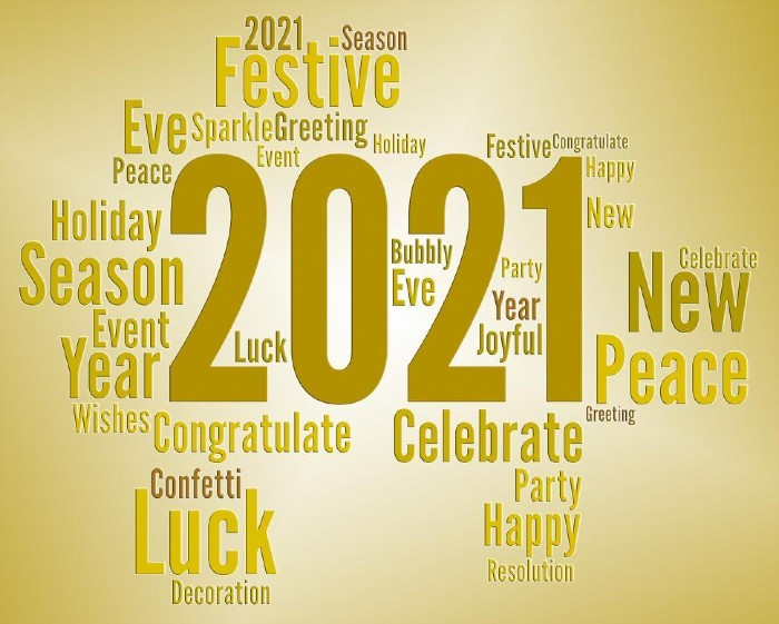 happy new year 2021 best wishes for friends, family and colleagues