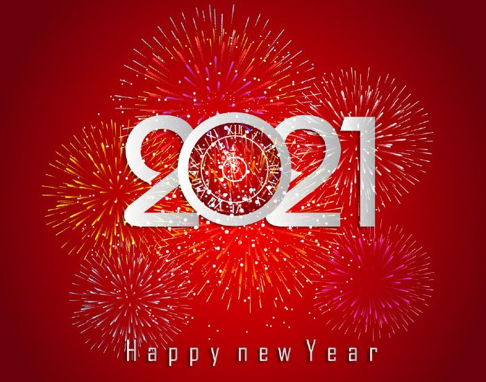 happy new year 2021 messages firework background