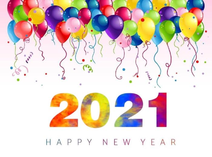 happy new year 2021 balloons celebrations picture