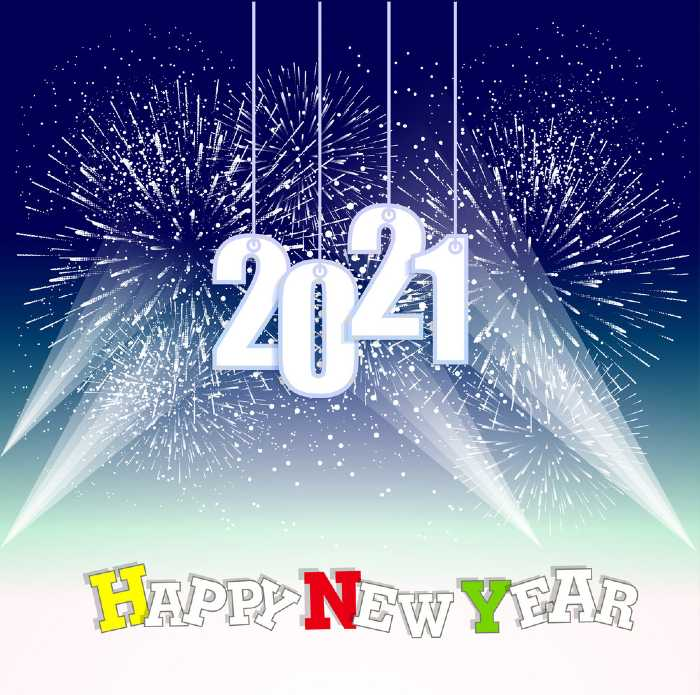 happy new year 2021 to you all firework background