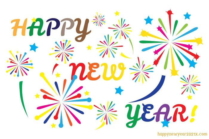 happy new year Colorful Clipart 2021