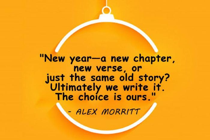 new year quotes - a new chapter, new verse