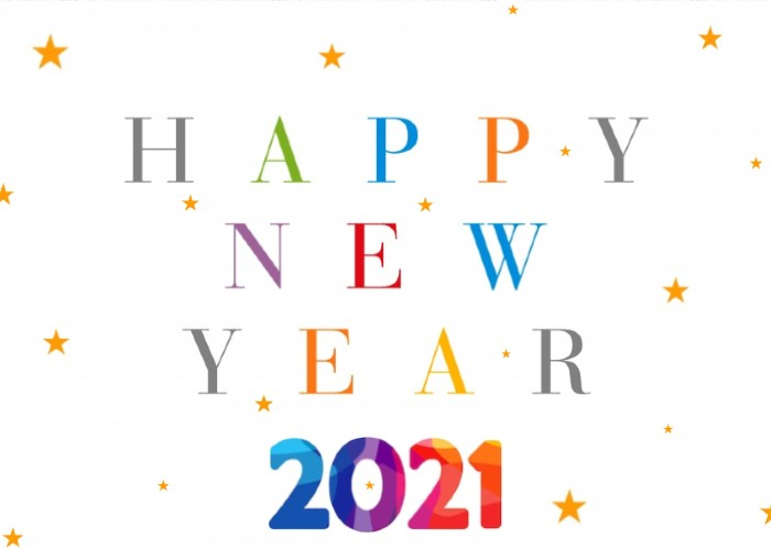 new year wishes 2021 stars greetings card