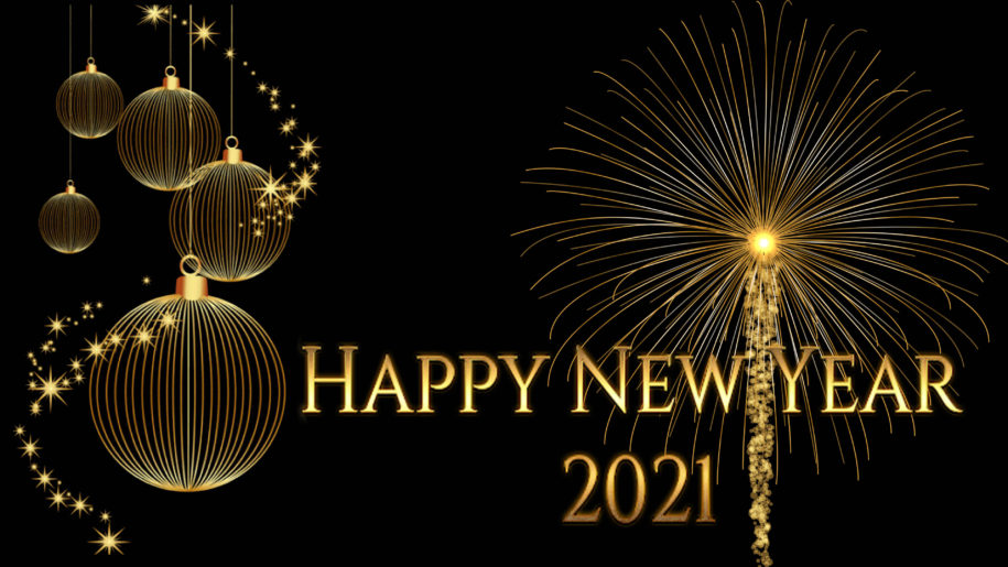 Happy-New-Year-2021-Gold-Fireworks-christmas-bulbs-Greetings-Card-for-or-Mobile-phones-Tablet-and-PC-