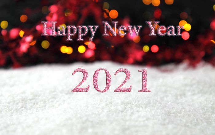 Pink glitter shining- Happy New Year Wishes for Sister 2021