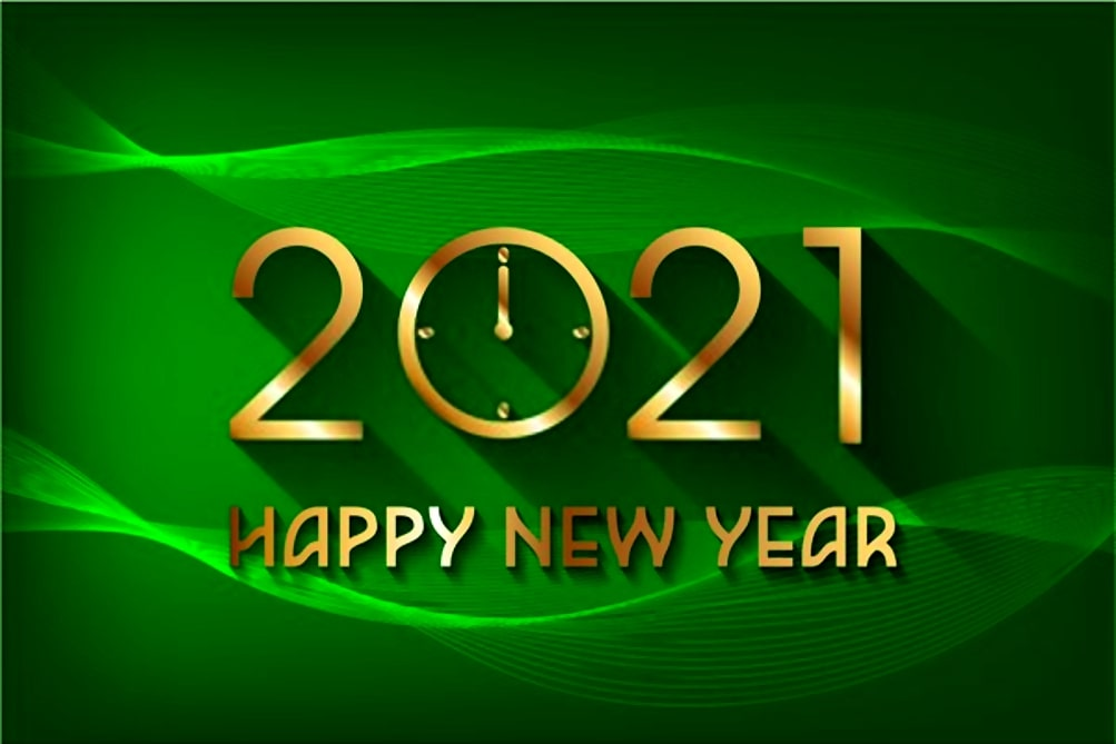 2021-new-year-green-background