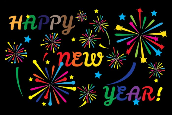 Happy New Year 2021 Colorful Clipart Photo