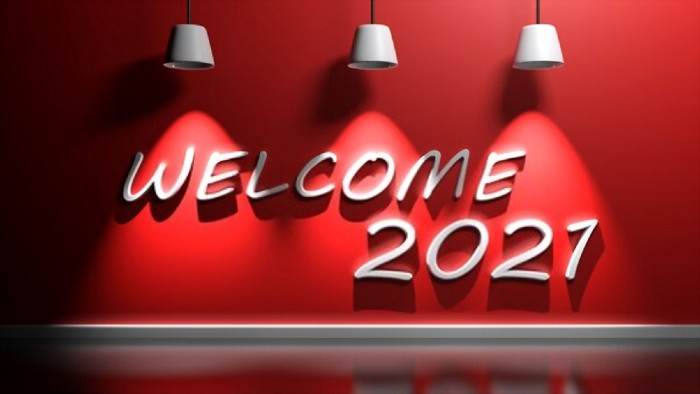 Welcome New Year 2021 for friends