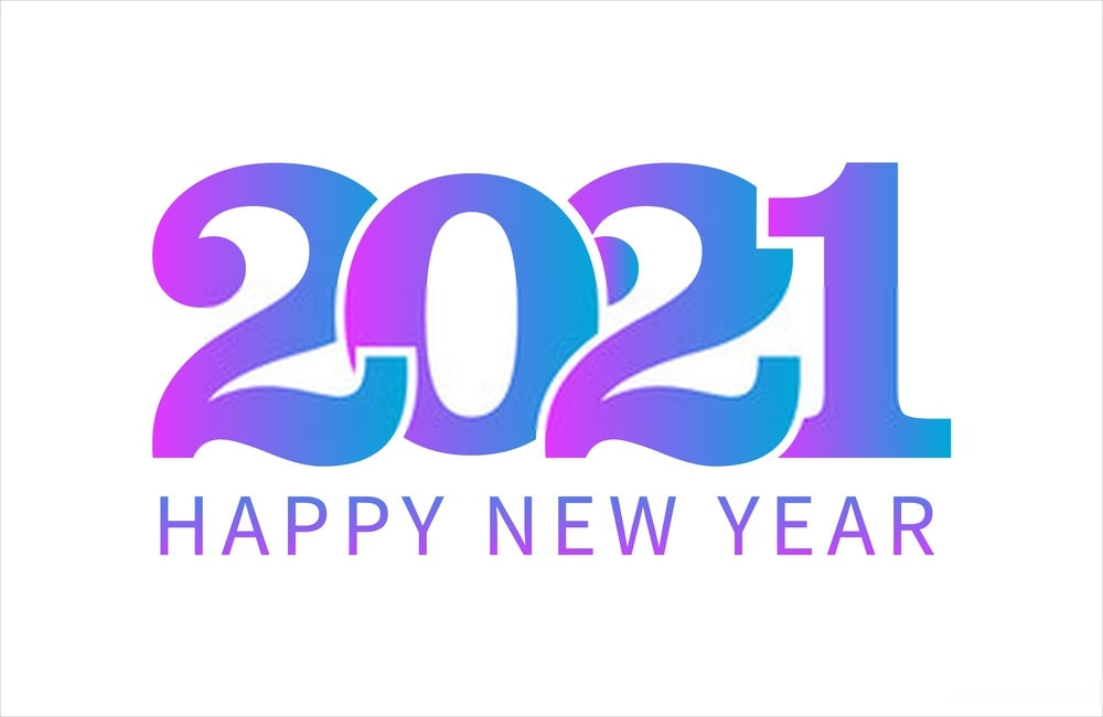 happy New Year 2021 HD Images- white background