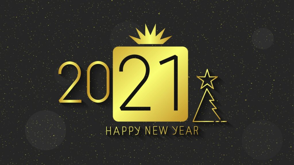 happy new year 2021 hd images golden color