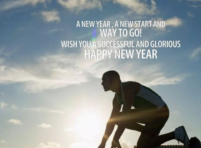motivational happy new year status message