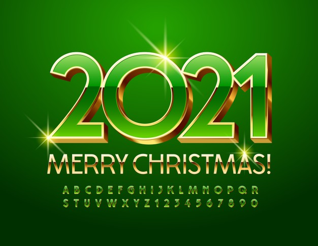 vector-chic-greeting-card-happy-new-year-2021-shiny-green-gold-font-premium